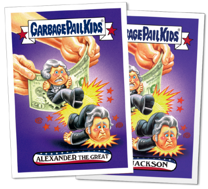 2016 Topps Garbage Pail Kids Founding Fathers Fourth of July 3 Andrew Jackson
