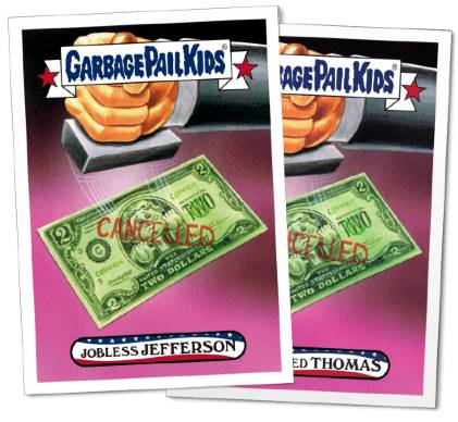 2016 Topps Garbage Pail Kids Founding Fathers Fourth of July 4 Thomas Jefferson