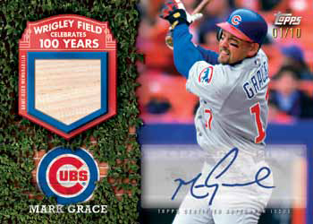 2016 Topps Series 2 Baseball Checklist - 100 Years at Wrigley Autographed Relic