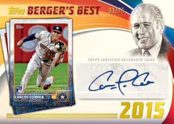 2016 Topps Series 2 Baseball Checklist - Bergers Best Autographs