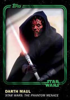 2016 Topps Star Wars Card Trader Base Green