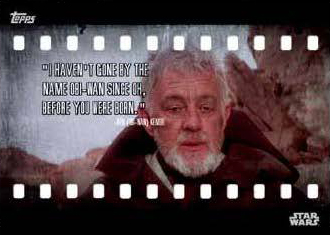 2016 Topps Star Wars Card Trader Film Quotes
