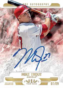 2016 Topps Tier One Baseball Tier One Autographs Mike Trout