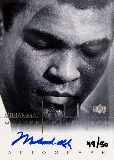 Upper Deck Muhammad Ali Master Collection Autograph