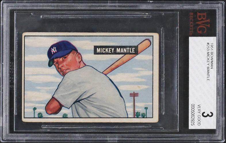 1951 Bowman Mickey Mantle RC BVG 3
