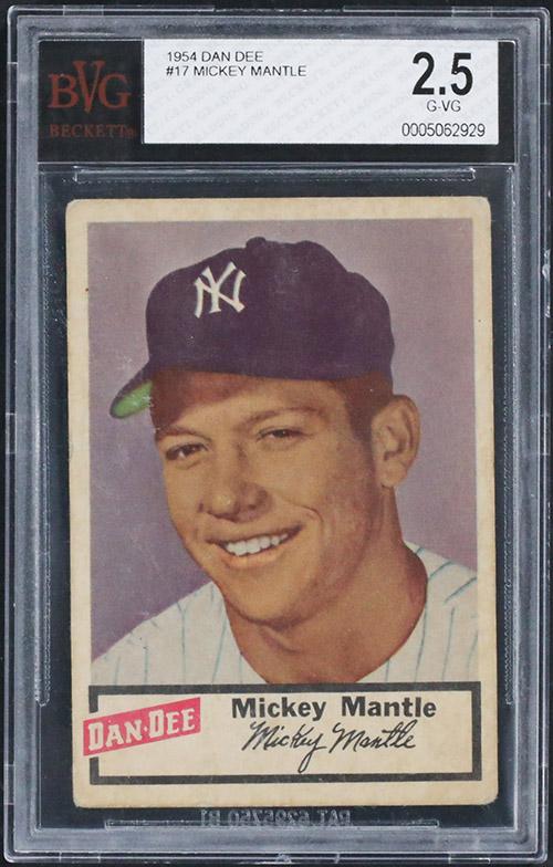 1954 Dan Dee Mickey Mantle BVG 2-5