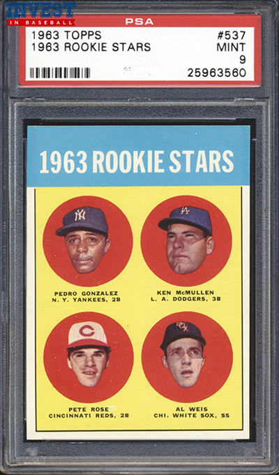 1963 Topps Pete Rose RC PSA 9 front