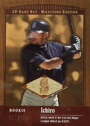 2001 SP Game Bat Milestone Edition Ichiro