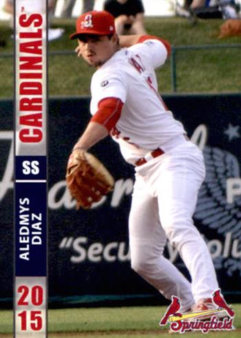 Aledmys Diaz autographed 2014 Springfield Cardinals Grandstand card