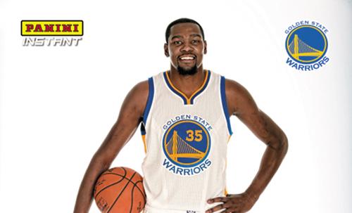 2016-17 Panini Instant NBA Basketball 1 Kevin Durant Black Facsimile Signature header