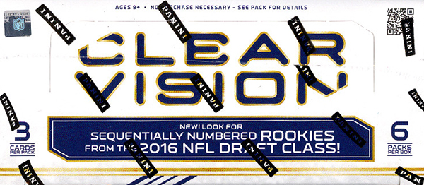 2016 Panini Clear Vision Football Hobby Box