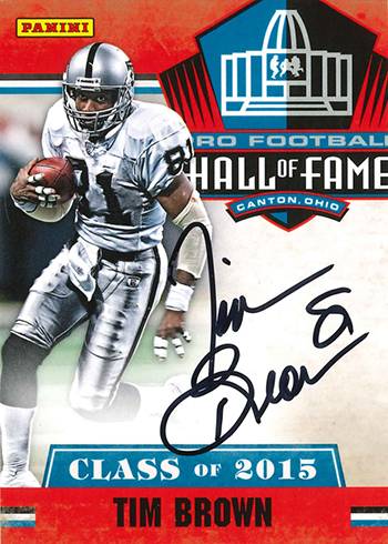 2016 Panini NSCC 2014 Pro Football Hall of Fame Autographs Tim Brown