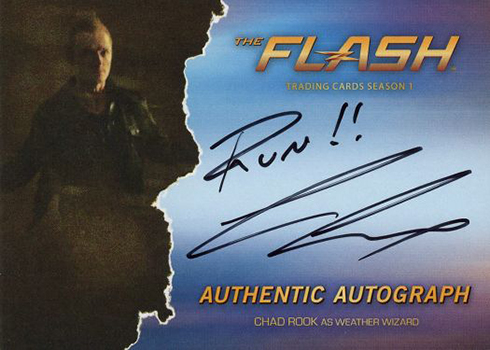 2016 The Flash Season 1 Autographs Chad Rook Weather Wizard