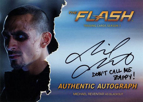2016 The Flash Season 1 Autographs Michael Reventer Blackout