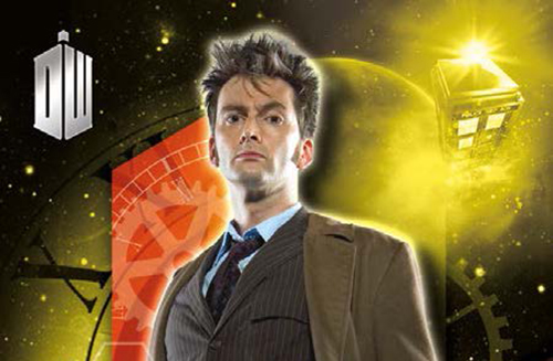 2016 Topps Doctor Who SDCC Tenth Doctor header
