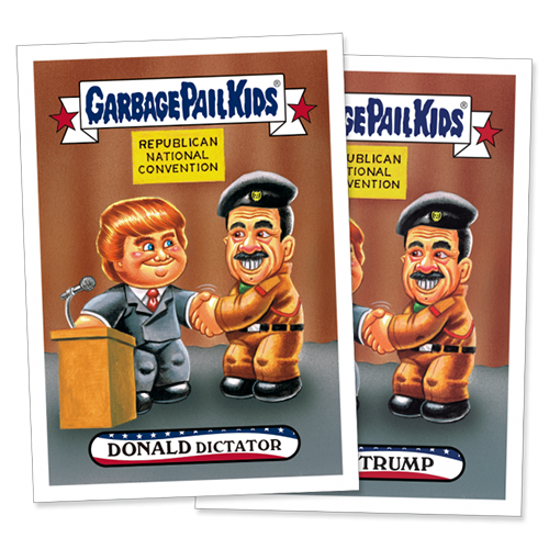 2016 Topps Garbage Pail Kids Republican National Convention 1 Trump