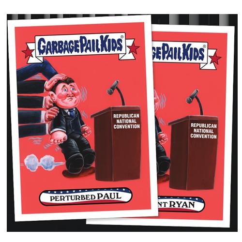2016 Topps Garbage Pail Kids Republican National Convention 4 Ryan