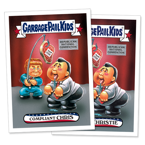 2016 Topps Garbage Pail Kids Republican National Convention Christie