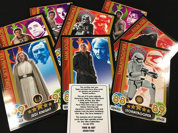 2016 Topps Star Wars Celebration Force Attax