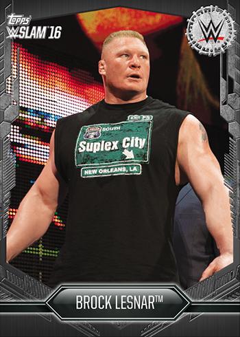 2016 Topps WWE Slam Black Brock Lesnar