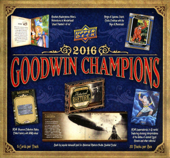 2016 UD Goodwin Champions Hobby Box