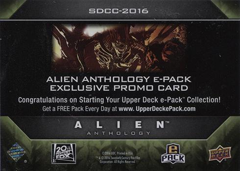 2016 Upper Deck Alien Anthology SDCC-2016 Reverse