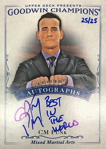 2016 Upper Deck Goodwin Champions Inscription Autographs CM Punk