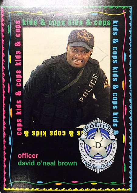 Dallas PD Cops and Kids Cards David Brown Front