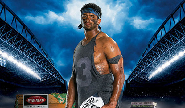 Russell Wilson Costacos Brothers Poster Armed and Dangeruss header