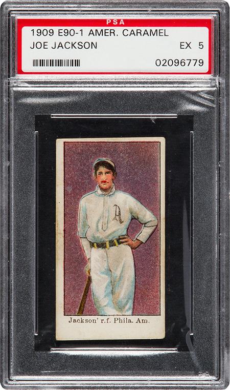 1909-11 E90-1 American Caramel Joe Jackson PSA 5 450
