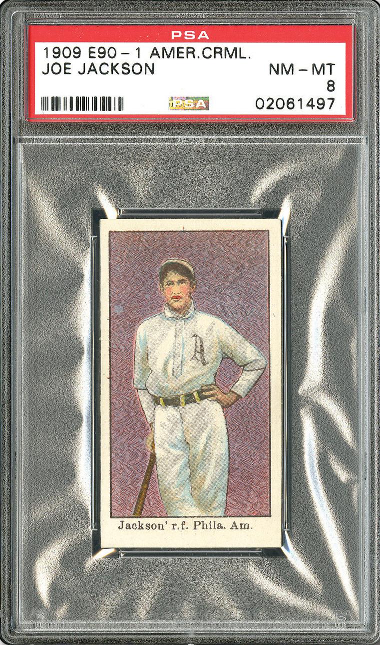 1909 E90-1 American Caramel Joe Jackson PSA 8 Front
