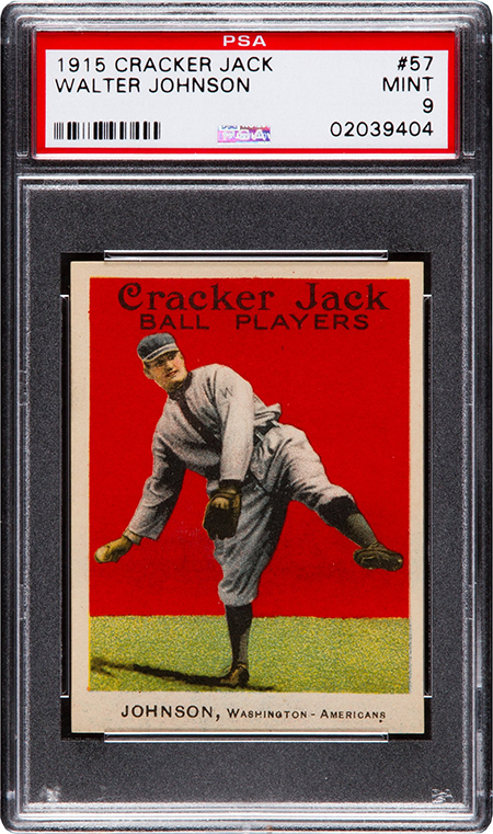 1915 Cracker Jack Walter Johnson PSA 9 450