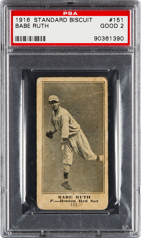 1916 D350 Standard Biscuit Babe Ruth PSA 2 450