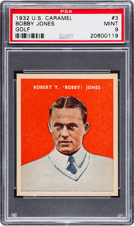 1932 US Caramel Bobby Jones PSA 9 450
