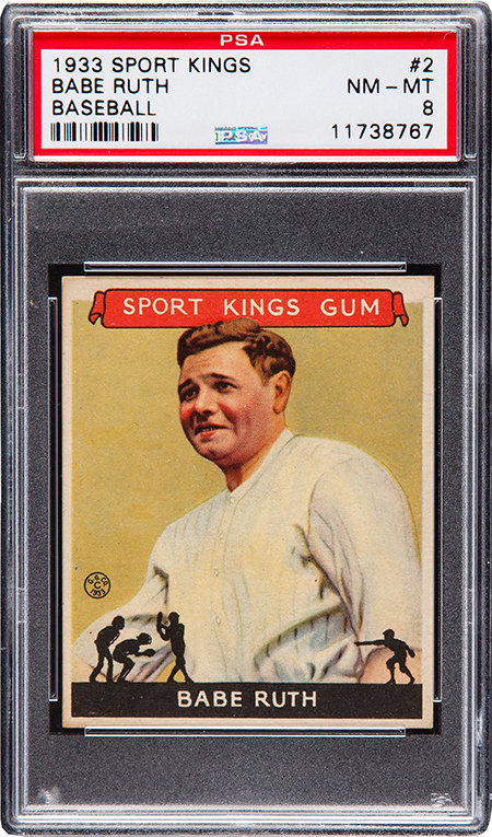 1933 Sport Kings Babe Ruth PSA 8 450