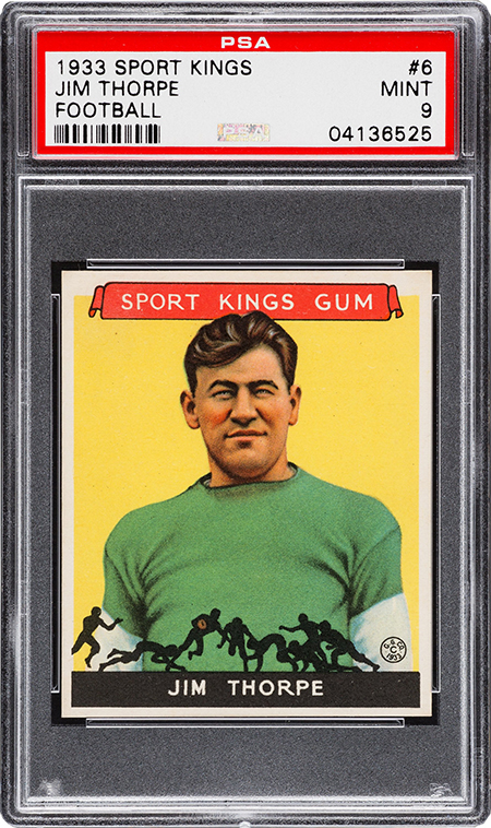 1933 Sport Kings Jim Thorpe PSA 9 450