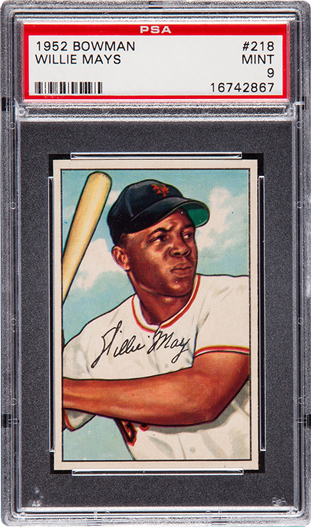 1952 Bowman Willie Mays PSA 9 450