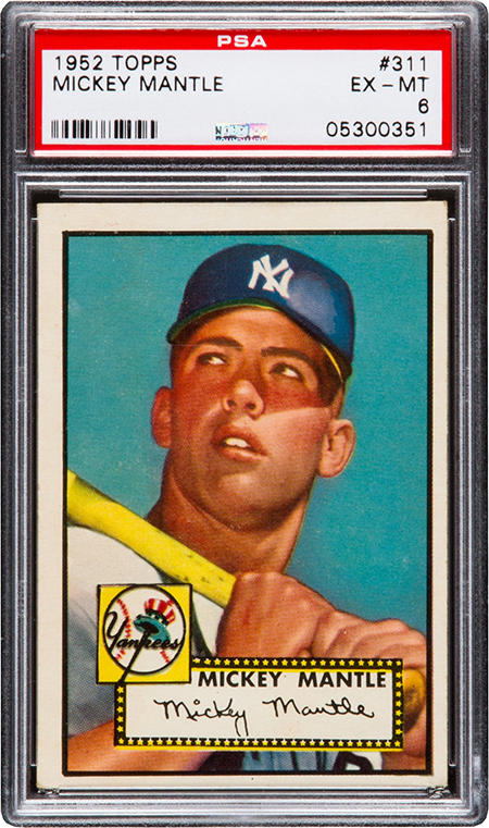 1952 Topps Mickey Mantle PSA 6 450