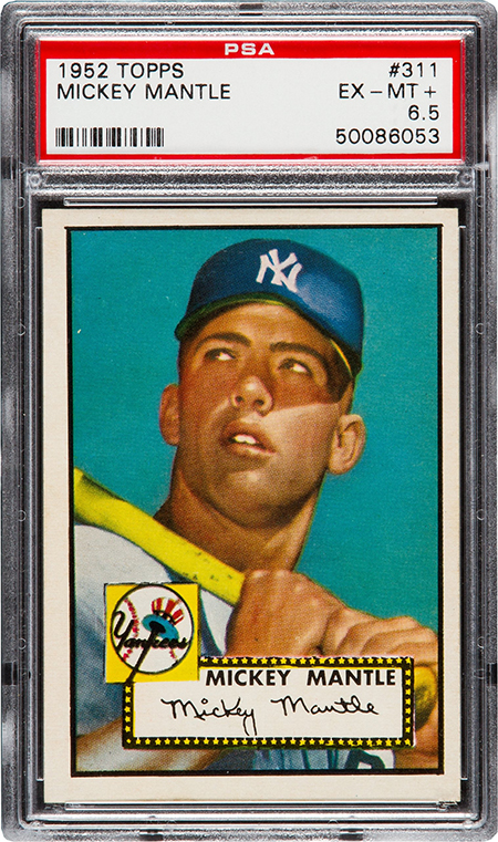 1952 Topps Mickey Mantle PSA 6-5 Heritage-Aug-2016 450