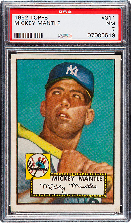 1952 Topps Mickey Mantle PSA 7 Heritage-Aug-2016 450