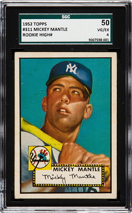 1952 Topps Mickey Mantle SGC 50 450