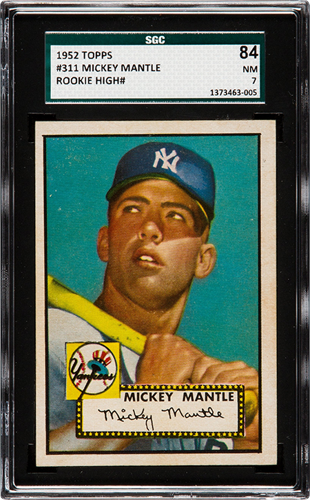 1952 Topps Mickey Mantle SGC 84 450