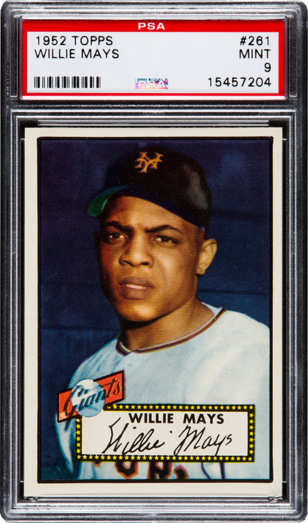 1952 Topps Willie Mays PSA 9 450