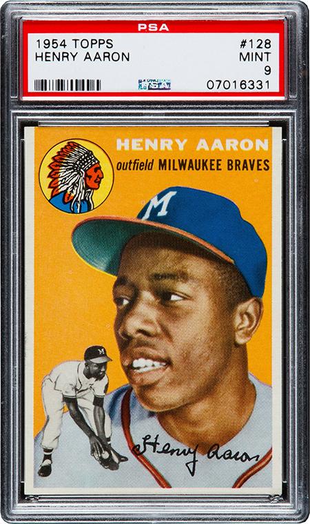 1954 Topps Hank Aaron Rookie Card PSA 9 450