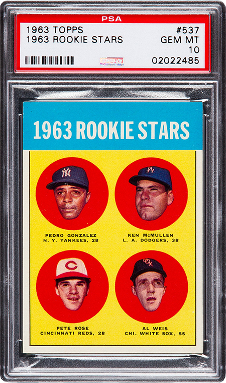 1963 Topps Pete Rose RC PSA 10 450