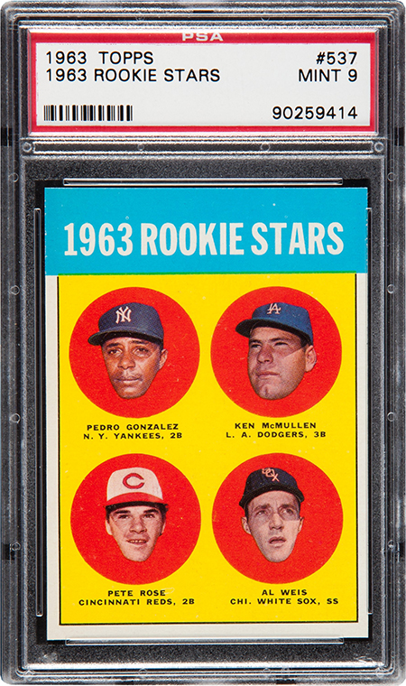 1963 Topps Pete Rose RC PSA 9 Heritage Aug-2016 450