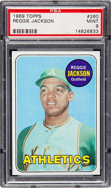 1969 Topps Reggie Jackson RC PSA 9 450