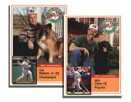 1993 Milk Bone Super Stars Header