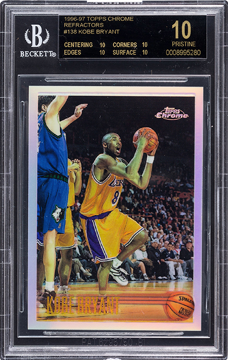 1996-97 Topps Chrome Refractor Kobe Bryant BGS 10 Black Label Heritage Aug-2016 450