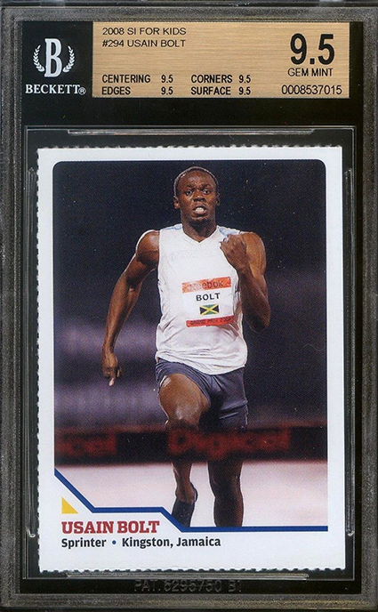 2008 Sports Illustrated for Kids Usain Bolt BGS 9-5